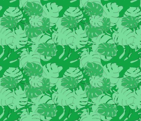 Wimoweh, The Mighty Jungle fabric by gargoylesentry on Spoonflower - custom fabric