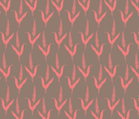 Coral Reed fabric by mrshervi on Spoonflower - custom fabric