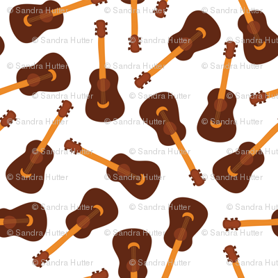Guitars On A White Background Acoustic Guitars Scattered Guitars
