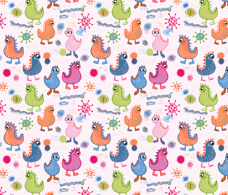 Creatures & Critters fabric by karapeters on Spoonflower - custom fabric