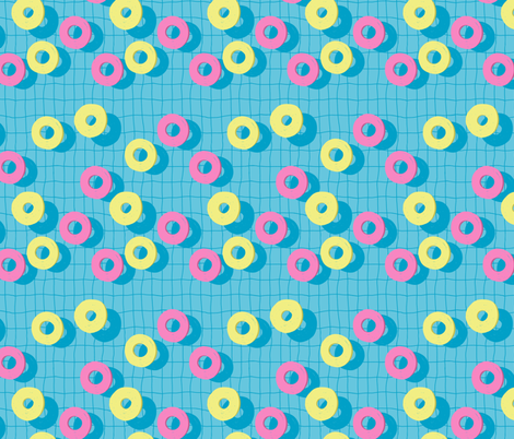 Summer Swimming Pool fabric by yashroom on Spoonflower - custom fabric