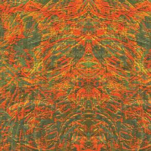 CORAL REEF - ORANGE GREEN