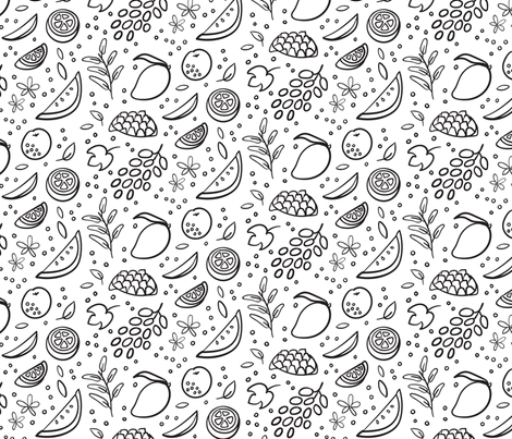 Fruit Frenzy fabric by paperondesign on Spoonflower - custom fabric
