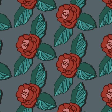 Simple Rose Red fabric by jadegordon on Spoonflower - custom fabric