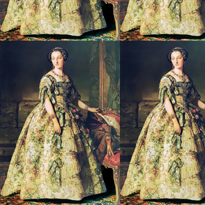 princesses green gowns ruffles hair buns baroque victorian beauty royal lace bows diamonds roses flowers ballgowns rococo portraits beautiful lady flowers floral jewelry woman elegant gothic lolita egl neoclassical  historical romantic 19th century 20th r