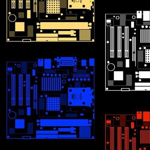 Minimalist Motherboards, on Black
