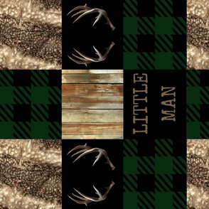 Little man hides and bucks - green plaid -rotated