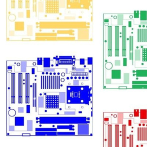 Minimalist Motherboards, on White