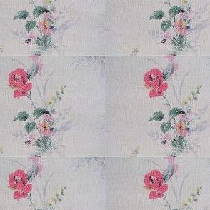 Papier peint vintage fleurs shabby chic vendu au mètre déco vintage France vintagefr