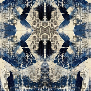 """Deep Navy Blue textured Abstract"""