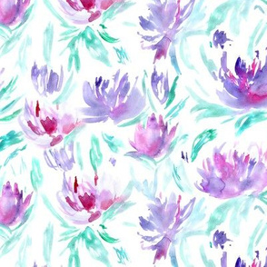 Summer vibes • watercolor floral pattern