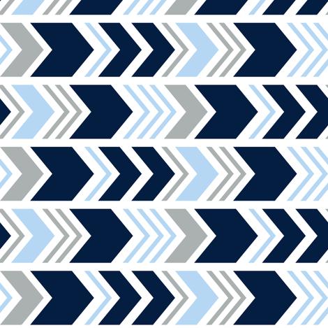 Chevron // Navy/Blue2 /Grey (90) fabric by littlearrowdesign on Spoonflower - custom fabric