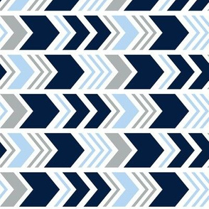 Chevron // Navy/Blue2 /Grey (90)