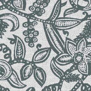 Vintage floral lace gray