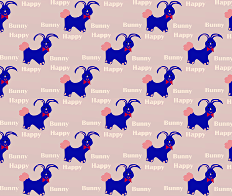 Happy Bunny-ed fabric by happy_creations_by_rechell on Spoonflower - custom fabric