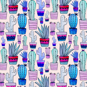 Colouful Cacti - larger scale