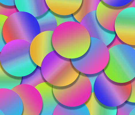 Rainbow Confetti fabric by patternbase on Spoonflower - custom fabric
