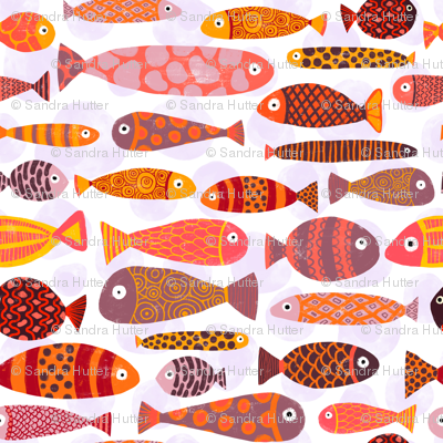 Tropical fishes. Very colorful school of fish.