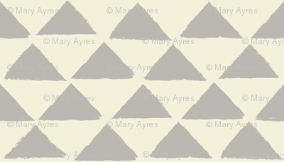 tiny grey and neutral triangles