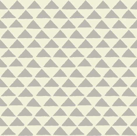 tiny grey and neutral triangles fabric by lilcubby on Spoonflower - custom fabric