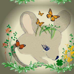 lucky mouse pillow cover