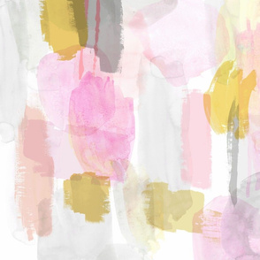 watercolor yellow pink gray