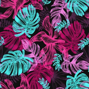 tropical leaves 1 - large