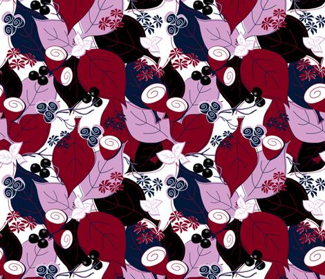 Autumn leaves fabric by sandra_hutter_designs on Spoonflower - custom fabric