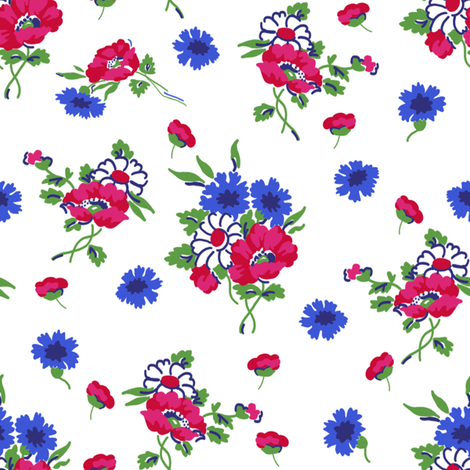 Lillian white fabric by lilyoake on Spoonflower - custom fabric