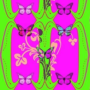 Mimi's Butterflies /green