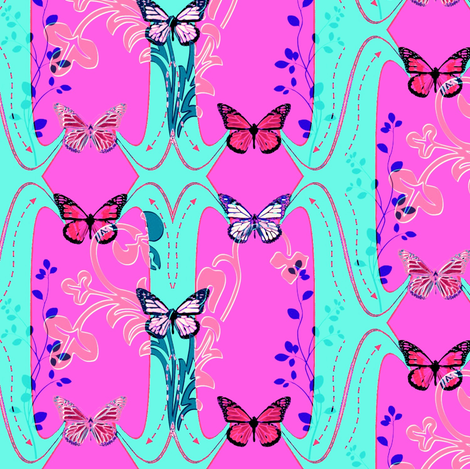 Mimi's Butterflies fabric by lizzystitch_-_j_scanlon on Spoonflower - custom fabric