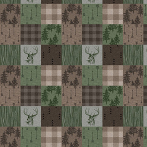 "2.5"" Rustic Buck - Camo Green and Brown"