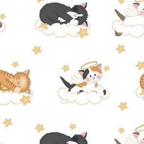 Angel Cat Kitten Cloud Star Nursery