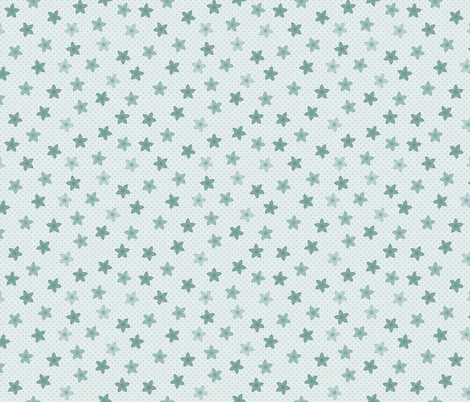 Sierras Flower: Watery Blue Scattered Flowers  fabric by dept_6 on Spoonflower - custom fabric
