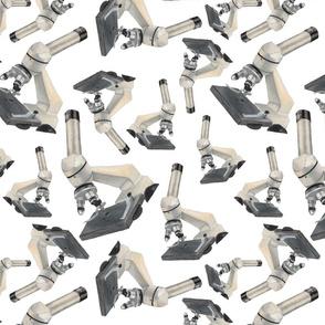 Microscopes All Around White BG
