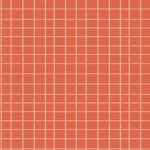 Elodie Grid Coral