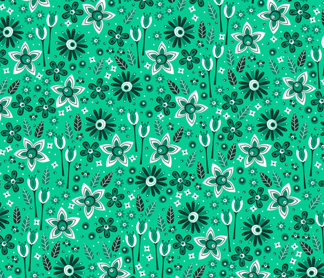 Emerald Fields fabric by robyriker on Spoonflower - custom fabric
