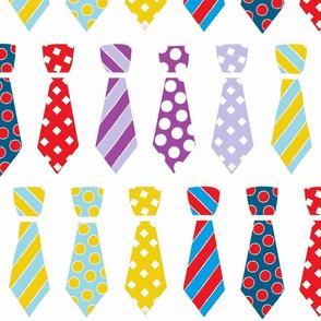 Ties on white