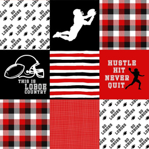Football//Hustle Hit Never Quilt Loboes - Wholecloth Cheater Quilt