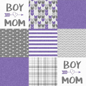Purple Boy Mom - Wholecloth Cheater Quilt