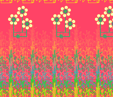 Bright as a daisy chain fabric by dustydiscoball on Spoonflower - custom fabric