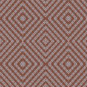 RHOMBUS IN BROWN AND GREY SHADES