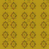 FOUR ORANGE-GREEN FLOWERS
