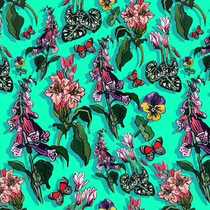 green forrest flowers