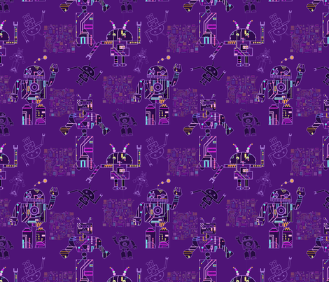 robots fabric by yd-_designs on Spoonflower - custom fabric