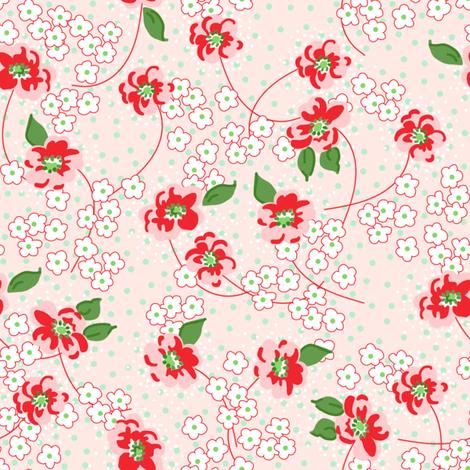 Dora peony fabric by lilyoake on Spoonflower - custom fabric