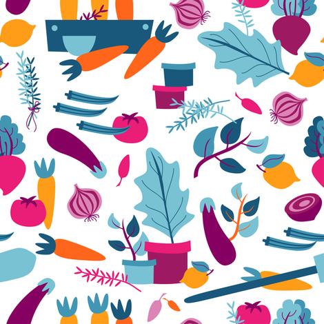 Garden Harvest - Day fabric by pastelpalette on Spoonflower - custom fabric