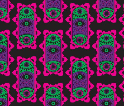 Tribal Long Eye fabric by musingtreedesigns on Spoonflower - custom fabric