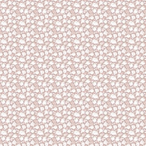 "MINI ""Heavenly"" White floral on Mauve"