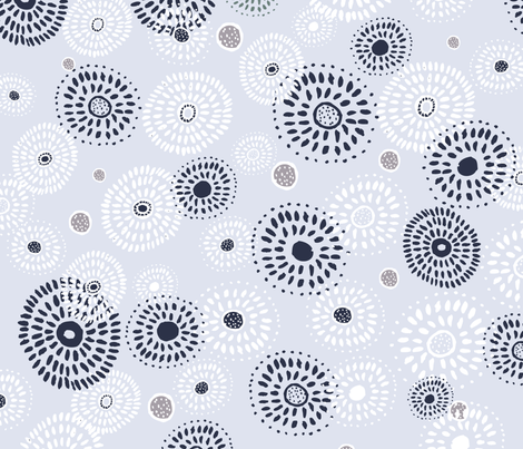 Round and Round  fabric by rosebudstudio on Spoonflower - custom fabric